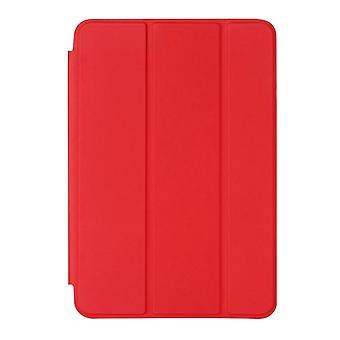 אופקי - ממקרה עור בצבע אחיד עם מחזיק שינה / התעוררות פונקציה עבור iPad מיני 4 (אדום)