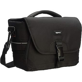 Amazonbasics dslr Gadget Messenger Bag medium, schwarz mit grauem Interieur schwarz/grau single