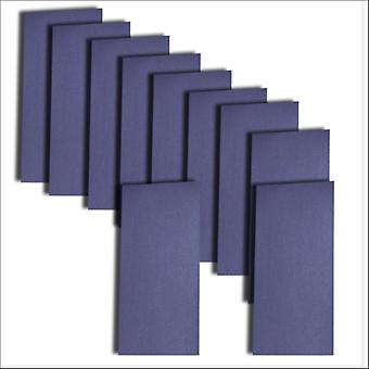 10 Kings Blue Pearlescent Card Inserts DL Size 1 (Large)