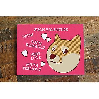 Slike Valentine-morsomt Doge Meme-kort