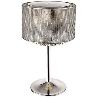 Brighton 4 Lights Tischleuchte Silber