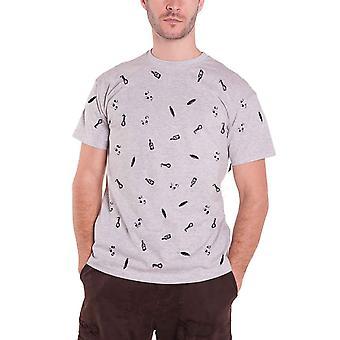 جلب لي الأفق Mens تي قميص رمادي ليس مسؤول سعيد جدا في جميع أنحاء الطباعة