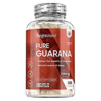 Pure Guarana Capsules - Energising Amazon Fruit Supplement - 1200mg in 90 Capsules