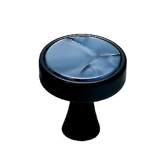 Cabinet Hardware Knob Single Hole Round Drawer Handle Blue Jade Small
