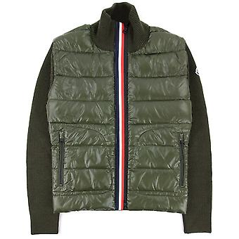 Moncler Maglione Tricot Card Cardigan Khaki 886