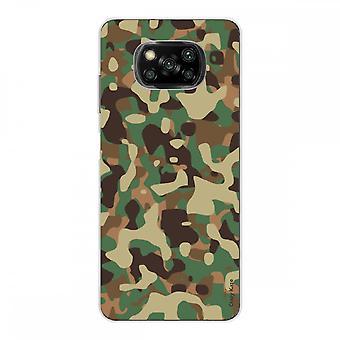 Kadłub dla Xiaomi Poco X3 NFC w silikonowym miękkim 1 mm, kamuflaż wojskowy
