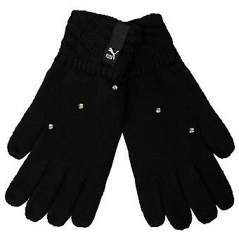 Puma Knit Womens Diamonte Winter Gloves Preto 041049 01 A187C