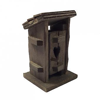 Nuket Talo Maalaismainen Puutarhavaja Ulkopuolella Privy 1:24 Half Inch Outhouse Outbuilding