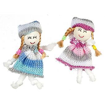 Panenky Dům Miniaturní Školka Obchod s toy Shop Příslušenství 2 Holčičky Vlněné Panenky