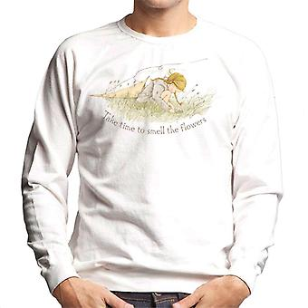 Holly Hobbie Take Time To Smell The Flowers Men's Sweatshirt
