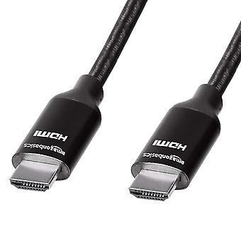 Amazonbasics High-Speed geflochtenes Hdmi-Kabel, schwarz - 91,4 cm 0,91 m