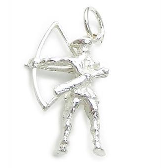 Robin Hood Sterling Silver Charm .925 X 1 Sherwood Archer Archers Charms - 117