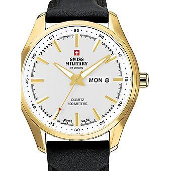 Reloj masculino militar suizo por Chrono SM34027.08, cuarzo, 44 mm, 10ATM