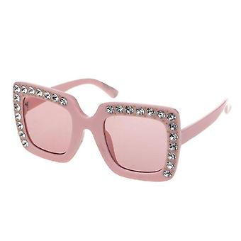 Luxury Rhinestone Square Sun Glasses