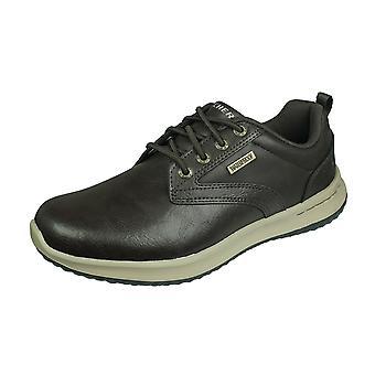 Skechers Delson Antigo Herren Relaxed Fit Schuhe wasserdicht - braun