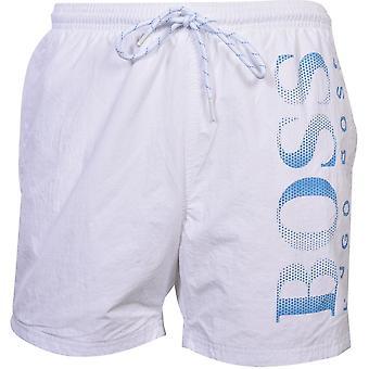 SHORTS de natação do logotipo do polvo, branco/azul