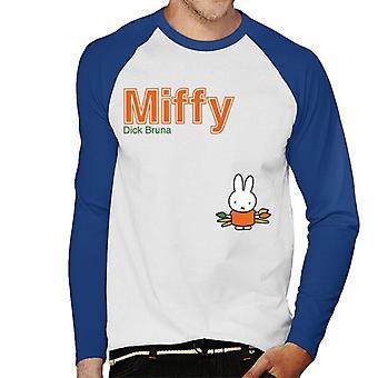 Miffy Holding Paint Brushes Men's Baseball Long Sleeved T-Shirt