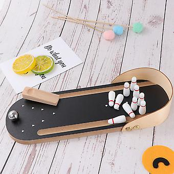 Portable Desktop Bowling Sports, Throwing Ball Indoor Parent Interactive Table