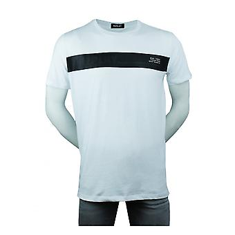 Replay Jeans Replay Mens Jersey T-shirt With Contrasting Stripe White