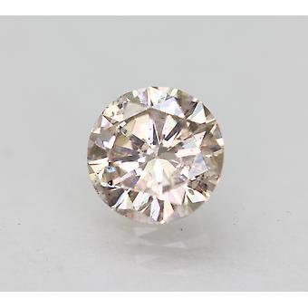 Cert 0,48 karat vaaleanruskea SI1 pyöreä brilliant parannettu luonnollinen timantti 5,14mm