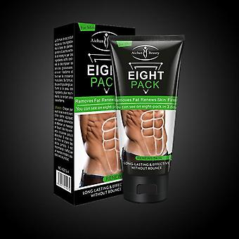 Men Eight Pack Stronger Muscle Cream Waist Torso Smooth Lines Muscle Fat