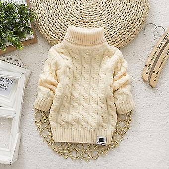 Winter Kids Baby Clothes, Infant Wool Sweaters, Turn-down Collar Shirt