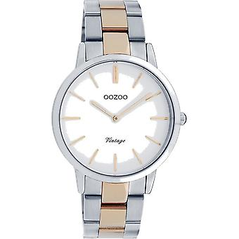 Oozoo - Ladies Watch - C20033 - Silver Rose Gold White