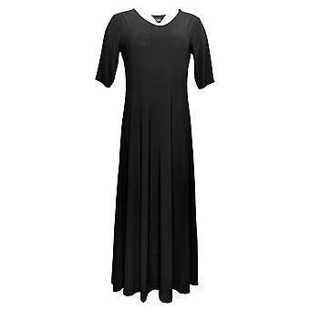 المواقف التي رينيه بيتيت اللباس الأسود ماكسي الأسود A375422