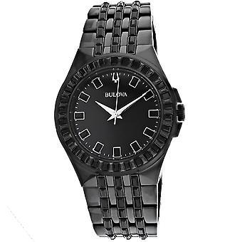 Bulova Men's Phantom Black Dial Watch - 98A240