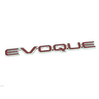 Range Rover Evoque Red & Chrome Rear Boot Badge Emblem Trunk Lid Lettering