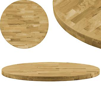 vidaXL Table top oak solid Round 44 mm 500 mm