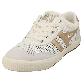 Gola Badminton Weave Womens Fashion Trainers in Off White