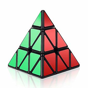 Speed Cube, 3x3x3 Pyramid Speed Cube Triangle Puzzle Magic Cube Enhanced Edition - Turns Quicker