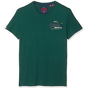سوبردري خمر شعار المتسابق تي شيرت، الأخضر (الأخضر 10E)، M رجل