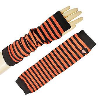 Длинный огонь женщин ниндзя трикотажные перчатки