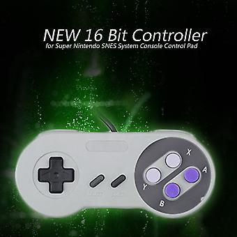 New 16 Bit Controller For Super Nintendo Snes System Console Control Pad