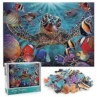 Unzip the game turtle ocean world paper puzzle 1000 pieces