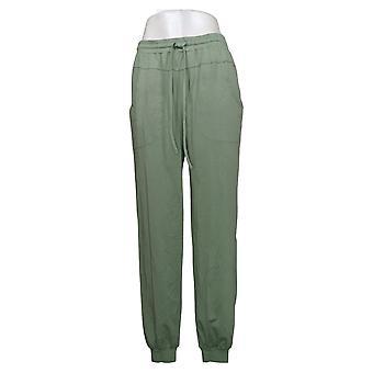 Enhver Kvinders Joggers Tall TS Hyggelig Strik W / Seaming Detail Green A349795