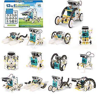 13 في 1 التعليمية الشمسية الروبوت كيت السلطة Diy تجميعها لعبة قارب سيارة الحيوان كتل اللعب العلوم