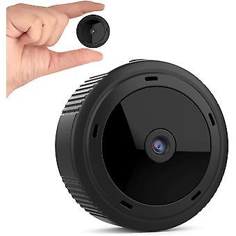 Mini kamera WiFi 1080P W10 Wireless HD IP nočné videnie Domáce bezpečnostné detekcie pohybu Dvr Cam s prenosnou aplikáciou pre vnútorné vonkajšie (čierna)