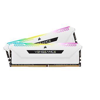 Kit de memoria Corsair Vengeance RGB Pro SL de 32 GB (2 x 16 GB), DDR4, 3200 MHz (PC4-25600), CL16, XMP 2.0, blanco