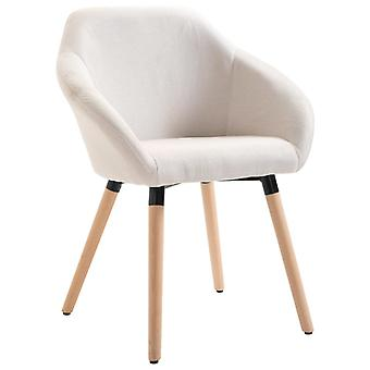 vidaXL dining chair cream fabric