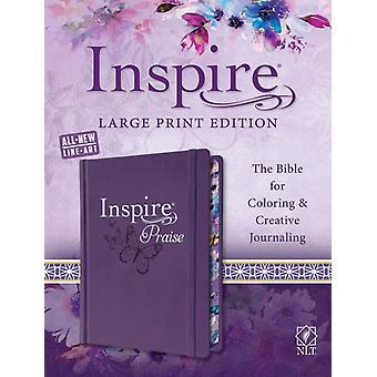 NLT إلهام الثناء الكتاب المقدس طباعة كبيرة من قبل Tyndale