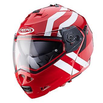 Caberg Duke II super Legend Full Face Motorcykel Hjälm Glans Röd Vit