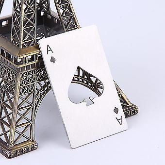 spillekort ess av spar poker bar verktøy flaske brus øl cap åpner gave