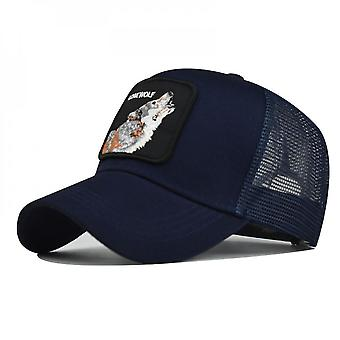 Baseball Mesh Cap Animal Wolf Embroidered Hat Men Outdoor Casual Sports Snapback Cap