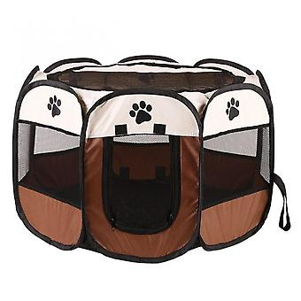 Portable Folding Pet Tent Dog House Cage octogonale pour cat tent Playpen Puppy Kennel Easy Operation Fence Outdoor Big Dogs House