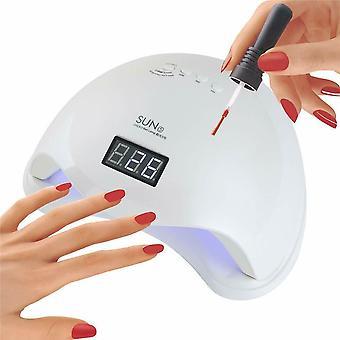 SUN5 Dryer Cure Manucure 48W UV LED Nail Lamp Pedicure Machine - Blanc