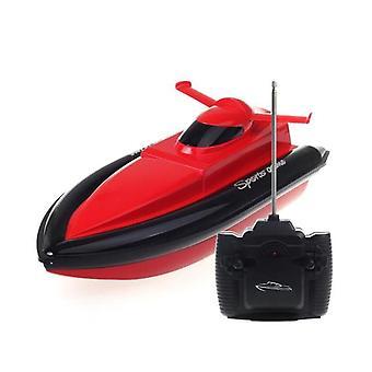 """0 ק""""מ / H RC סירה 2.4Ghz מהירות גבוהה RC סירות מירוץ (אדום)"""