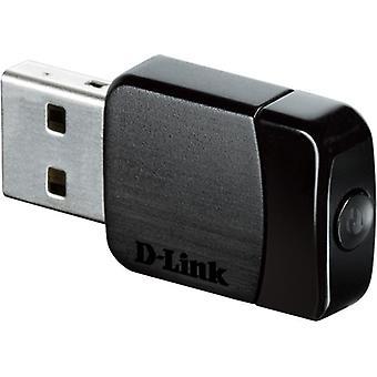 D-Link-Netzwerk-Adapter, Adapter, Mini USB, AC580 802.11 n/g/Ac schwarz